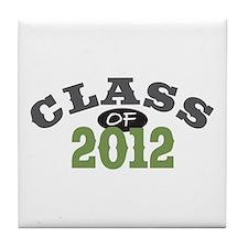Class Of 2012 Green Tile Coaster
