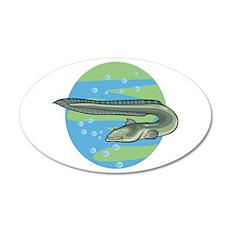 Swimming Eel Design 22x14 Oval Wall Peel