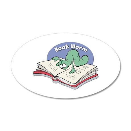 Book Worm 22x14 Oval Wall Peel