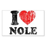 I Love Nole! Sticker (Rectangle)
