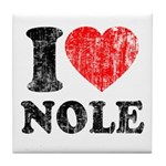I Love Nole! Tile Coaster