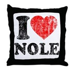I Love Nole! Throw Pillow