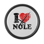 I Love Nole! Large Wall Clock