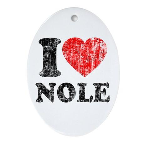 I Love Nole! Ornament (Oval)