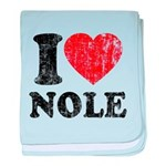 I Love Nole! baby blanket
