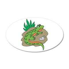 Silly Salamander 22x14 Oval Wall Peel
