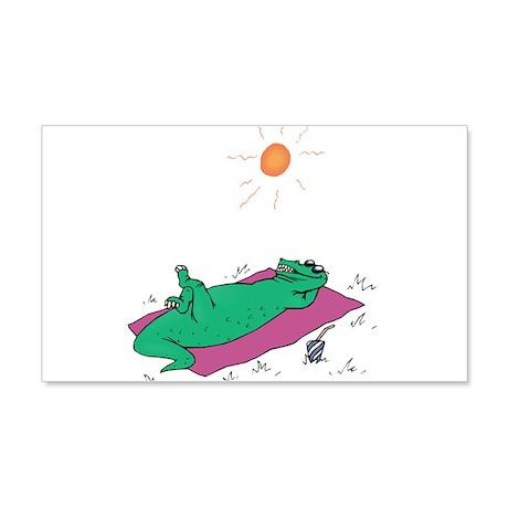 Alligator in the Sun 22x14 Wall Peel