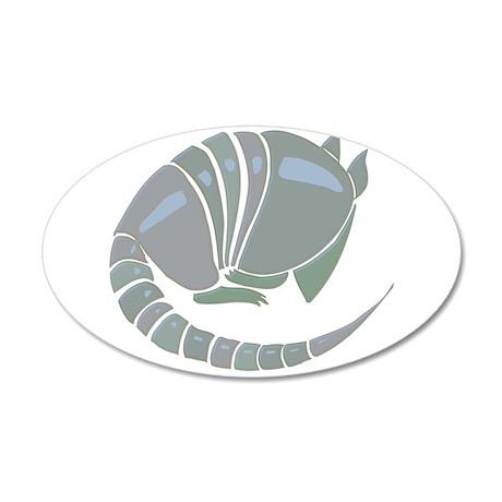 Armadillo 38.5 x 24.5 Oval Wall Peel