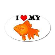 I Love my Goldfish 22x14 Oval Wall Peel