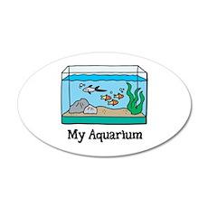 My Aquarium 22x14 Oval Wall Peel