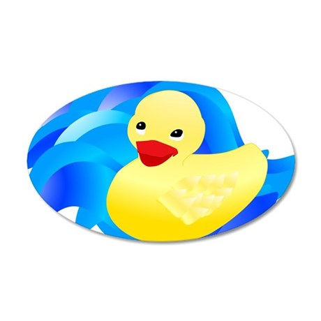Rubber Ducky 22x14 Oval Wall Peel