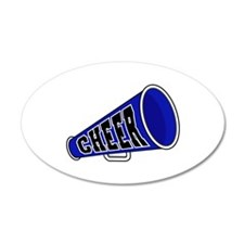 Blue Cheer Megaphone 38.5 x 24.5 Oval Wall Peel