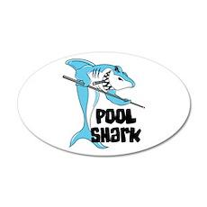 Pool Shark 22x14 Oval Wall Peel