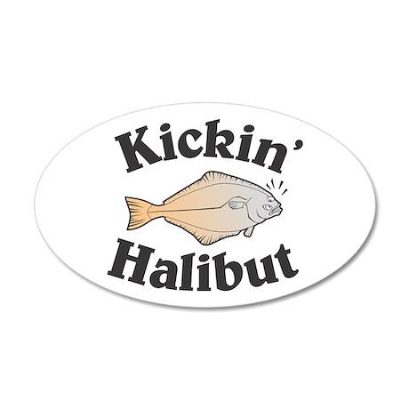 Kickin' Halibut 38.5 x 24.5 Oval Wall Peel