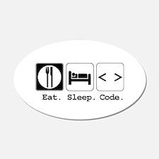 Eat. Sleep. Code. 22x14 Oval Wall Peel
