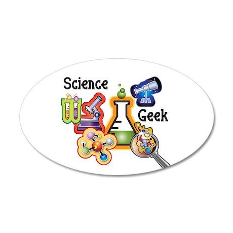 Science Geek 22x14 Oval Wall Peel