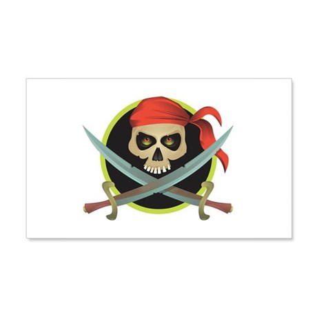 Pirate Skull and Swords 22x14 Wall Peel