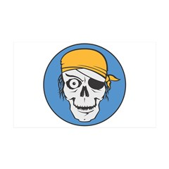 Colored Pirate Skull 38.5 x 24.5 Wall Peel