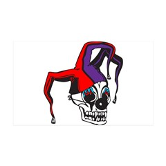 Evil Jester Clown Skull 38.5 x 24.5 Wall Peel