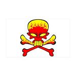 Flaming Skull & Crossbones 38.5 x 24.5 Wall Pe