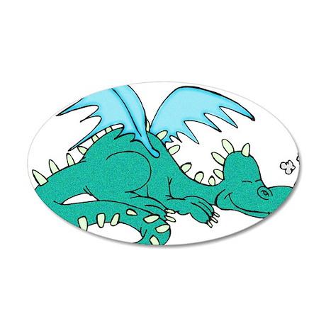 Baby Dragon 38.5 x 24.5 Oval Wall Peel
