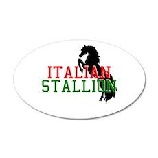 Italian Stallion 22x14 Oval Wall Peel
