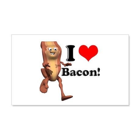 I Heart (Love) Bacon 22x14 Wall Peel