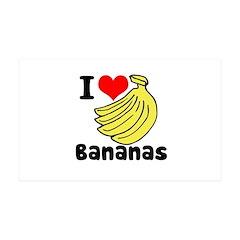 I Heart (love) Bananas 38.5 x 24.5 Wall Peel