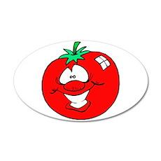 Happy Tomato Face 22x14 Oval Wall Peel