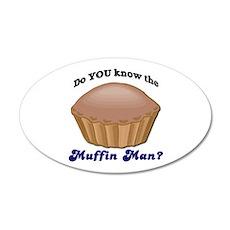 Muffin Man 22x14 Oval Wall Peel