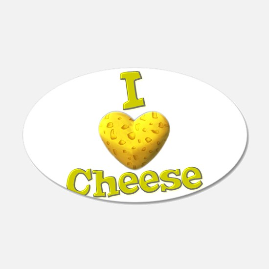 funny cute i heart love cheese cheesey heart Wall Decal