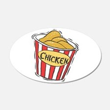 Bucket of Chicken 22x14 Oval Wall Peel