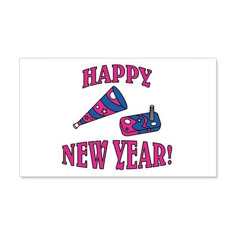 Happy New Year Noise Makers D 22x14 Wall Peel