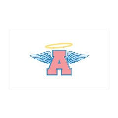 A for Angel 38.5 x 24.5 Wall Peel