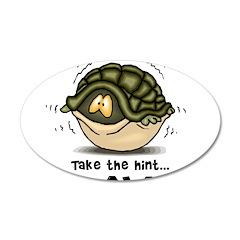 Go Away Turtle 22x14 Oval Wall Peel