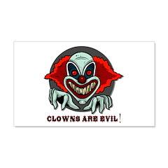 Clowns are Evil 22x14 Wall Peel