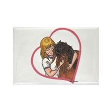 Hug Heart B Mini Rectangle Magnet