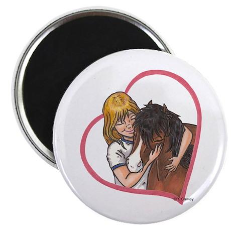 Hug Heart B Mini Magnet