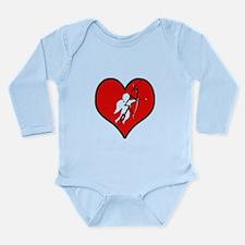 Cute Bleeding love Long Sleeve Infant Bodysuit