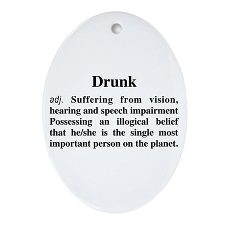 The Definition Of Drunk Ornament (Oval)