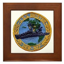 USS BRISTER Framed Tile