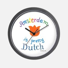 Amsterdam is Pretty Dutch Wall Clock