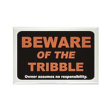 Beware / Tribble Rectangle Magnet