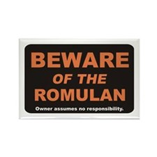 Beware / Romulan Rectangle Magnet