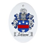 Schiavoni Coat of Arms Oval Ornament