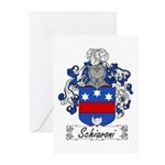 Schiavoni Coat of Arms Greeting Cards (Package of
