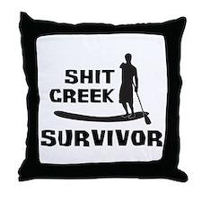 Shit Creek Survivor Throw Pillow