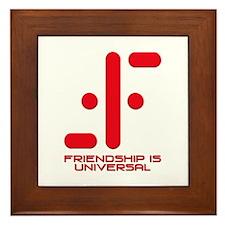 V Friendship is Universal Framed Tile