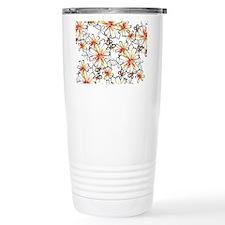 Sketchy Retro Flowers Travel Mug