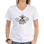Keydar and Gryphon Women's V-Neck T-Shirt